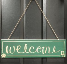 Hey, I found this really awesome Etsy listing at https://www.etsy.com/listing/199573132/baylor-bear-welcome-sign-door-hanger