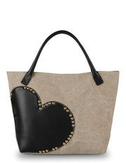 Moschino Online Store ~ Large heart bag