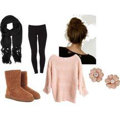 bun+pink+sweater= SUCCESS!!!