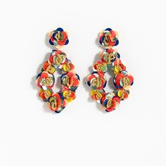 J.Crew Gift Guide: women's leather-backed sequin petal earrings.