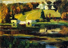 The Athenaeum - Sketch for Akhtyrka - Autumn (Wassily Kandinsky - )