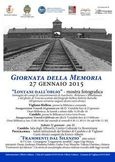 Giornata della Memoria Mostre Fotografiche a Candelo e Vigliano Spettacolo Atto Unico Programma fino al 31 gennaio