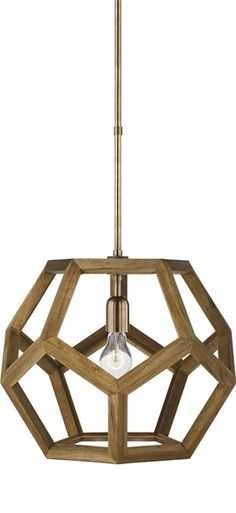 SMALL RALPH LAUREN DUSTIN DODECAHEDRON WOOD PENDANT, $440