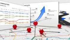 PowerPoint Hintergründe mit Roadmaps von PresentationLoad