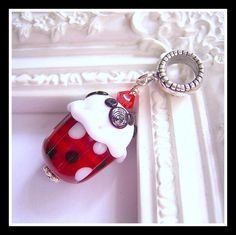 Minnie Mouse Cupcake Pandora Charm Mickey Mouse by MagicalCharms, $33.00