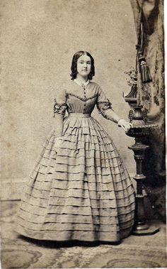 1860s tucked dress