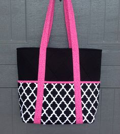 I just sold one of these bags last night!!! I can make it for a laptop bag or smaller. And with a zipper closure or with a magnetic snap closure!!!   Check it out at: https://www.etsy.com/listing/537458305/black-white-geometric-fabric-pink-tote?ref=shop_home_active_23