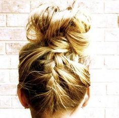 Upside Down French Into a Messy Bun - Cute and Easy Everyday Braids - Photos