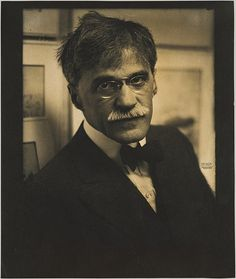 """Edward Steichen (American, born Luxembourg, 1879–1973). Alfred Stieglitz at 291, 1915. The Metropolitan Museum of Art, New York. Alfred Stieglitz Collection, 1933 (33.43.29)   291 Fifth Avenue was the address of Alfred Stieglitz's first gallery, the Little Galleries of the Photo-Secession, commonly known as """"291.""""  #mustache #movember"""