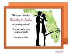 Florida Couple Save the Date