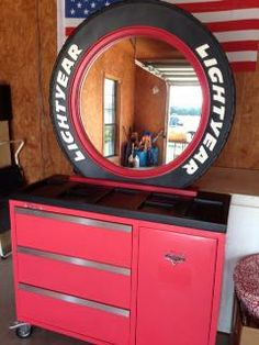 I Saw This Dresser For Sale In My Area Today. It Was In A Lightening McQueen  Themed Little Boys Room. I Thought It Was Really Creative.
