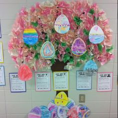 Easter egg tree and Easter Bunny application writings