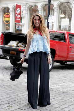 Frilly Little Top Amelia Diamond Man Repeller Style Trend Palazzo Pants 15