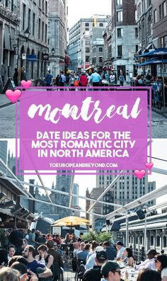 A list of the best romantic things to do in Montreal, including candle-lit restaurants, rooftop terraces, and quirky activities.
