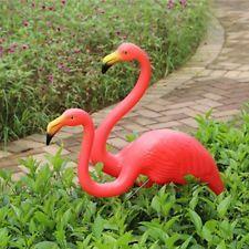 Pair Pink Plastic Lawn Flamingos Party Decoration Yard Ornaments 65cm & 48cm NEW