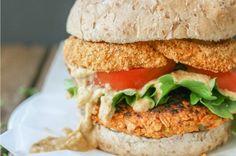 Spicy Cauliflower Chickpea Burger [Vegan, Gluten-Free]