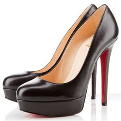 @865 140mm Christian Louboutin Bianca Black Platform Pumps