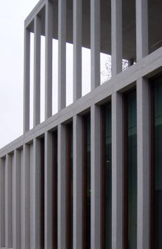 Timeless trabeated construction. Museum Of Modern Literature in Germany by David Chipperfield.