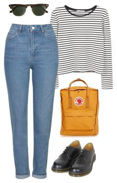 on Polyvore featuring polyvore, fashion, style, MANGO, Topshop, Dr. Martens, Fjällräven, J.Crew and clothing
