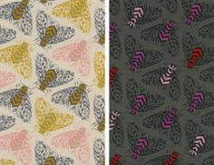 bees magic forest by sarah watts for cotton + steel fabrics