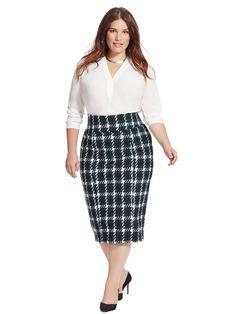 Venezia Lane Bryant Blue Denim Flat Front Straight Skirt Sz 18 Evident Effect Fab Seaming