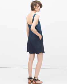 Image 4 of OMBRE INDIGO DRESS from Zara