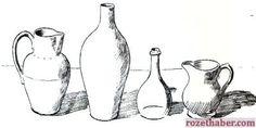 Karakalem Nesne Grupları Çizimi
