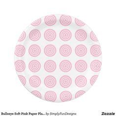 Bullseye Soft Pink Paper Plates  sc 1 st  Pinterest & CHEX 1-PINK-PAPER PLATES-2 PAPER PLATE | Zazzle Party Supplies ...