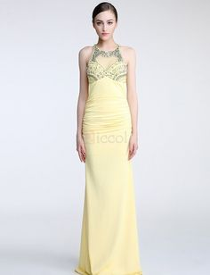 ❀ Charming Floor Length Package Hips Evening Dress | Riccol ❤