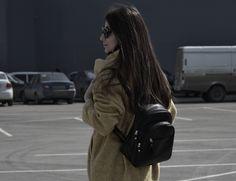 Fashion, style, backpack, long hair, beautiful hair, girl, brunette, inspiration