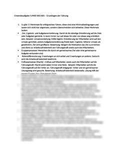 Einsendeaufgabe FUM02-XX3-A05 - Grundlagen der Führung: Dadurch wird die Arbeitszufriedenheit bestimmt Motivation, Word Search, Words, Job Satisfaction, High School Graduation, Horse, Inspiration