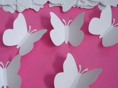 Tash these would be great for invites, place cards, souvenirs, etc. Think glitter, spray paint , jewels!!   400 Wedding White Butterfly punch die cut cutouts by BelowBlink, $24.00