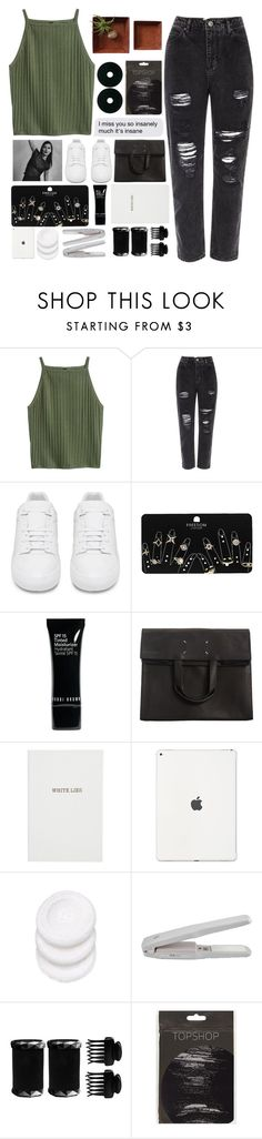 """""""#292"""" by oh-my-rainbow ❤ liked on Polyvore featuring River Island, Balenciaga, Topshop, Bobbi Brown Cosmetics, Maison Margiela, Sloane Stationery, T3 and Dot & Bo"""