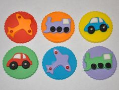 Planes Trains and Automobile's Fondant by LadyCupcakesCorner, $15.95