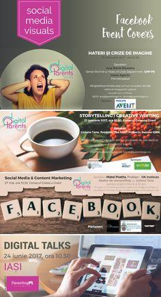Facebook Covers for Digital Parents Talks Creative Writing, Creative Design, Storytelling, Parents, Social Media, Facebook, Digital, Cover, Dads