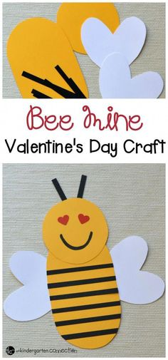 Bee Mine Valentine's Day Craft for Kids - Bee Mine Valentine's Day Craft for Kids Kids will be buzzing with excitement as they create this paper Valentine's Day bee. Enjoy this cute Valentine's Day Craft for kids! Preschool Valentine Crafts, Kinder Valentines, Kindergarten Crafts, Valentines Day Activities, Valentines Day Party, Preschool Crafts, Craft Activities, Valentines Art For Kids, Valentines Day Crafts For Preschoolers