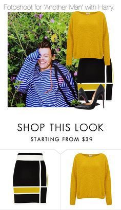"""""""Fotoshoot for 'Another Man' with Harry."""" by cheekyxtommo ❤ liked on Polyvore featuring River Island, American Vintage and Christian Louboutin"""