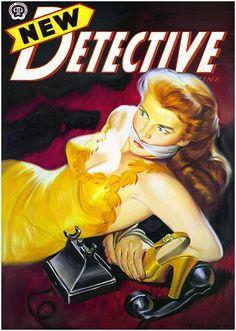 New Detective Magazine, May 1948, art by Rafael DeSoto