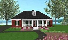 southern style house plans | SOUTHERN STYLE HIP ROOF COTTAGE PLANS « Unique House Plans