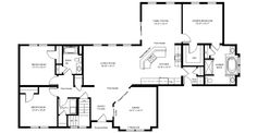 Tuscany 28 Floorplan of Designer Collection - All American Homes make 4 beds, 2 3/4 bath