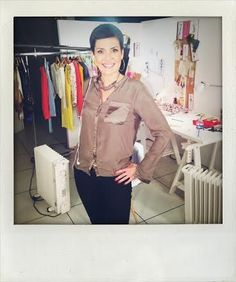 Cristina Cordula porte le collier Stanley Delphine-Charlotte Parmentier