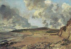 Risultati immagini per la baia di weymouth constable Weymouth Bay: Bowleaze Cove and Jordon Hill Opera d'arte Artista: John Constable, LA BAIA DI WEYMOUTH, 1817, 53 cm x 75 cm, Colore ad olio, National Gallery
