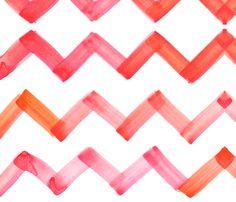 chevron pink/orange fabric by cest la viv on Spoonflower - custom fabric
