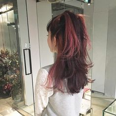 Image in ch: draculaura Hair Color Streaks, Hair Highlights, Dye My Hair, Aesthetic Hair, Pretty Hairstyles, Hair Looks, Hair Inspiration, Hair Inspo, Afro