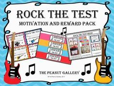 Add to your students' test motivation and success with this Rock the Test Motivation and Reward Pack. It's perfect for standardized testing time! ($)