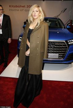 Simply chic: Ellie Goulding chose to cover up when she attended the Audi Night event on Friday night in Kitzbuehel, Austria (scheduled via http://www.tailwindapp.com?utm_source=pinterest&utm_medium=twpin&utm_content=post1242369&utm_campaign=scheduler_attribution)
