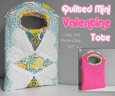 Quilting: Free Quilted Mini Valentine Tote