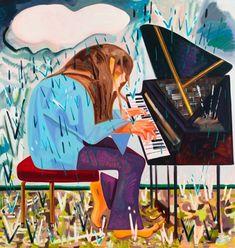 """Dana Schutz""""Piano in the Rain,"""" 2012, oil on canvas"""