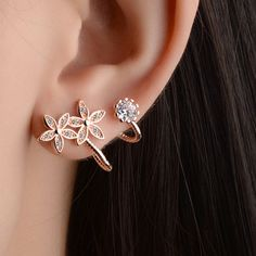 How nice Shining Women's Heart Flower Helix Diamond Ear Clips Earrings Studs ! I want to get it ASAP! How nice Shining Women's Heart Flower Helix Diamond Ear Clips Earrings Studs ! I want to get it ASAP! Ear Jewelry, Crystal Jewelry, Crystal Earrings, Silver Earrings, Silver Jewelry, Fine Jewelry, Silver Ring, Vintage Jewelry, Leather Earrings