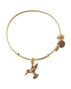 Alex and Ani Hummingbird Expandable Wire Bangle  Bloomingdale's
